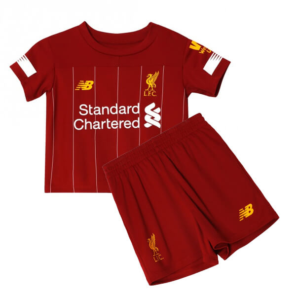 sports shoes 93c25 be065 Liverpool Home Kids Football Kit 19/20