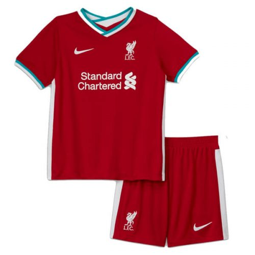 Liverpool Home Kids Football Kit 2021