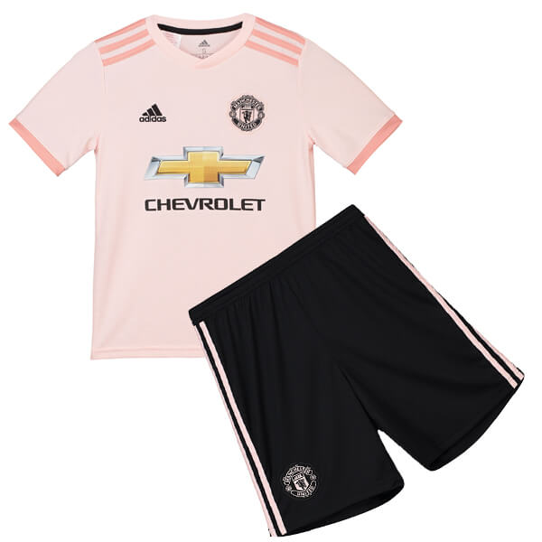 bcadbfc6ffa Manchester United Away Kids Football Kit 18 19 - SoccerLord
