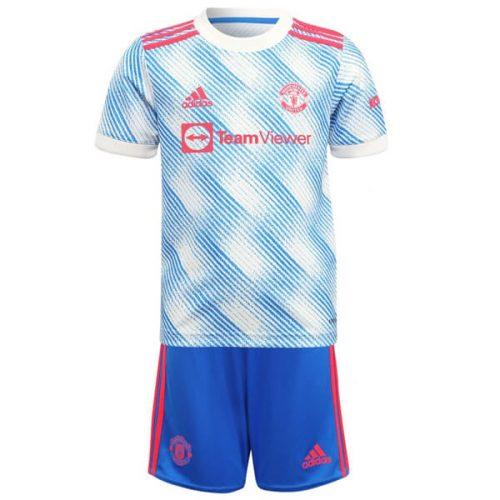 Manchester United Away Kids Football Kit 21 22