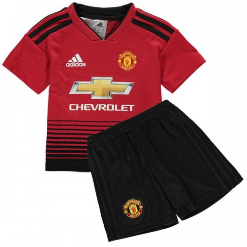 Manchester United Home Kids Football Kit 18 19