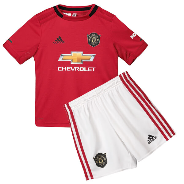 reputable site 8f346 144fb Manchester United Home Kids Football Kit 19/20