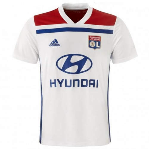 Olympique Lyon Home Soccer Jersey 1819