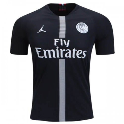 PSG 3rd Jordan Football Shirt 18 19 - Black