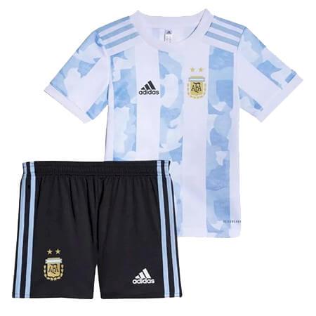 Argentina Home Kids Football Kit 2122