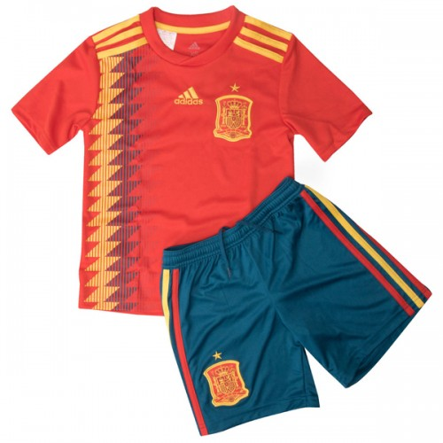 Spain 2018 World Cup Home Kids Football Kit