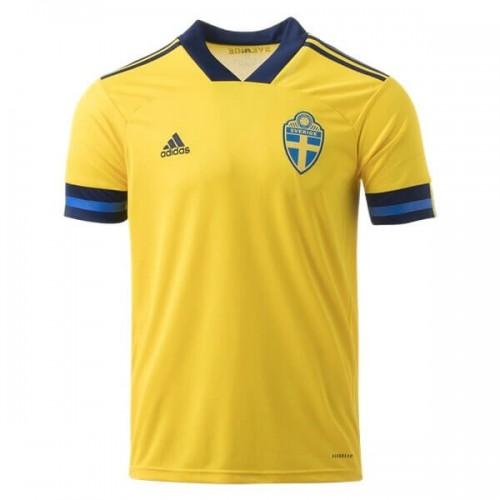 Sweden Home Euro 2020 Football Shirt