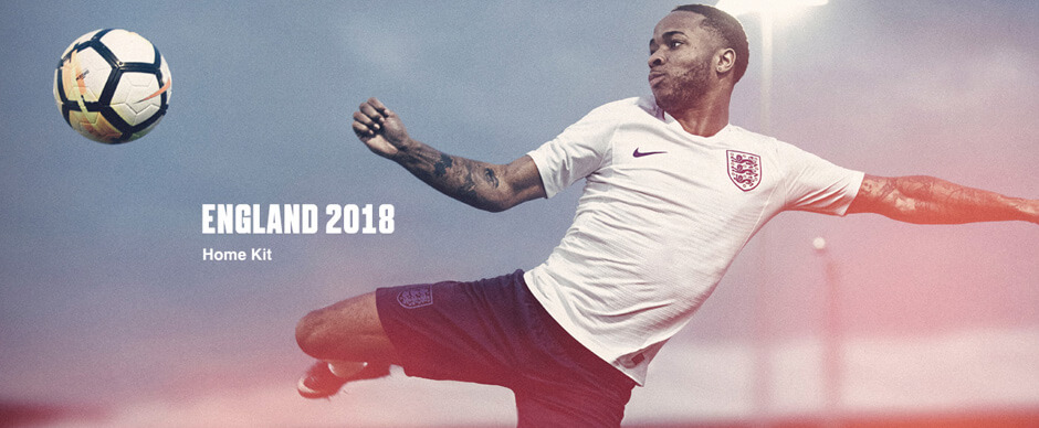 England Home World Cup Soccer Jersey