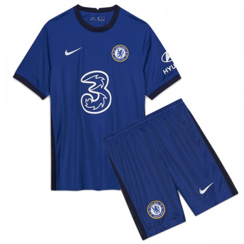 Chelsea Home Kids Football Kit 20 21