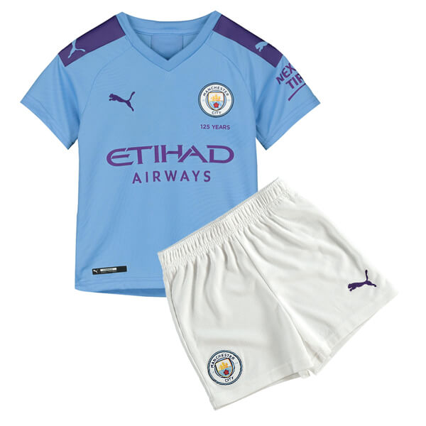 Manchester City Home Kids Football Kit 19/20