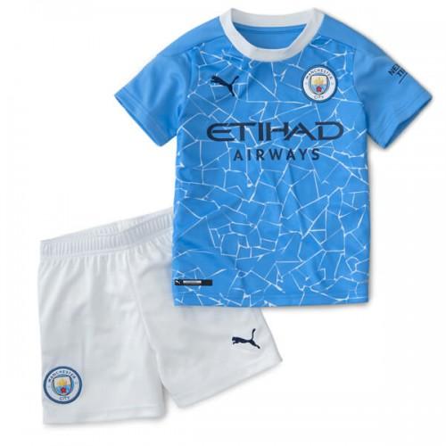 Manchester City Home Kids Football Kit 20 21