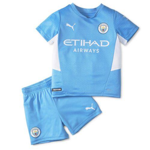 Manchester City Home Kids Football Kit 21 22