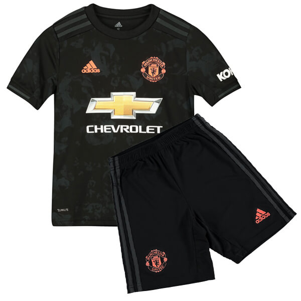 the best attitude 5e0a8 4482f Manchester United Third Kids Football Kit 19/20