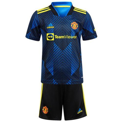 Manchester United Third Kids Football Kit 21 22