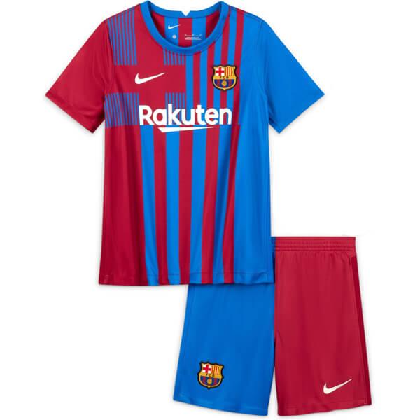 Barcelona Home Kids Football Kit 21 22