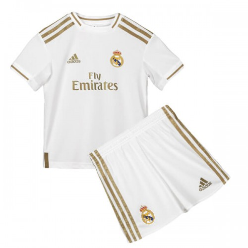 Real Madrid Home Kids Football Kit 19 20