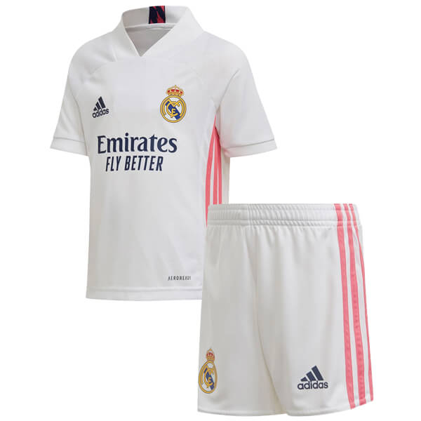 Real Madrid Home Kids Football Kit 20 21