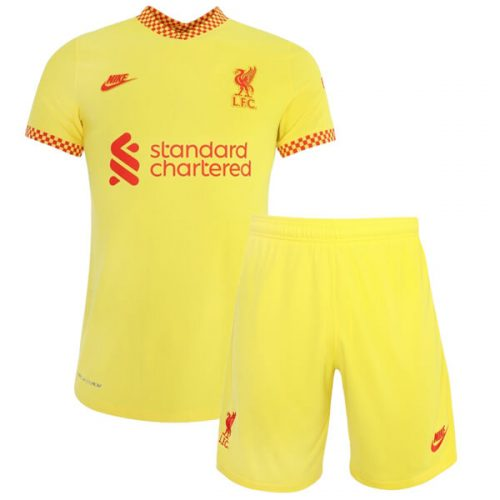 Liverpool Third Kids Football Kit 21 22