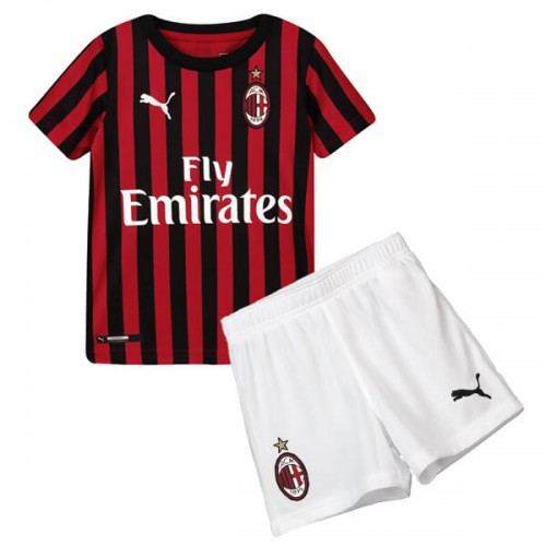 AC Milan Home Kids Football Kit 19 20