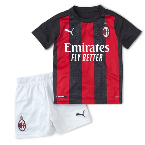 AC Milan Home Kids Football Kit 20 21