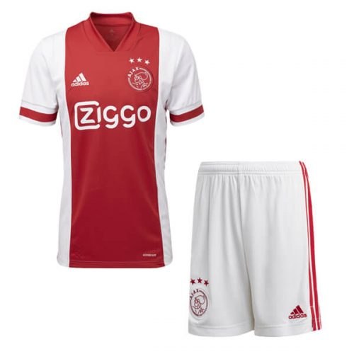 Ajax Home Kids Football Kit 20 21