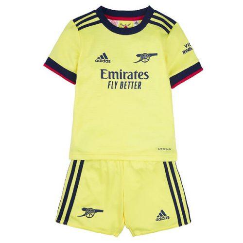 Arsenal Away Kids Football Kit 21 22