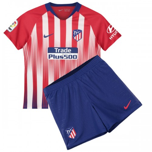 Atletico Madrid Home Kids Football Kit 18 19
