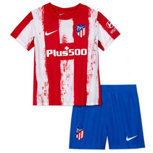 Atletico Madrid Home Kids Football Kit 21 22