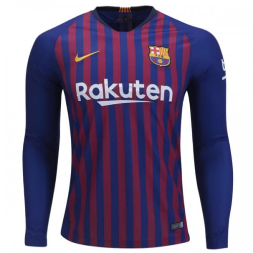 Barcelona Home Long Sleeve Football Shirt 18 19
