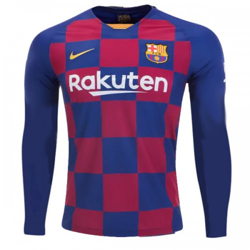 Barcelona Home Long Sleeve Football Shirt 19 20
