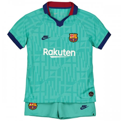 Barcelona Third Kids Football Kit 19 20