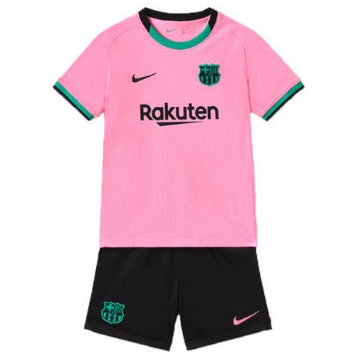 Barcelona Third Kids Football Kit 20 21