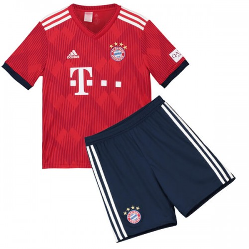 Bayern Munich Home Kids Football Kit 18 19