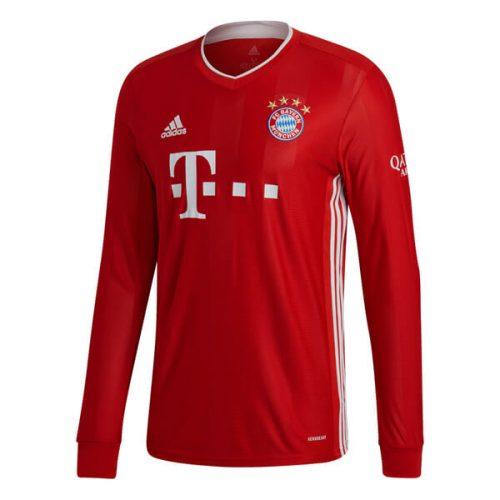 Bayern Munich Home Long Sleeve Football Shirt 20 21