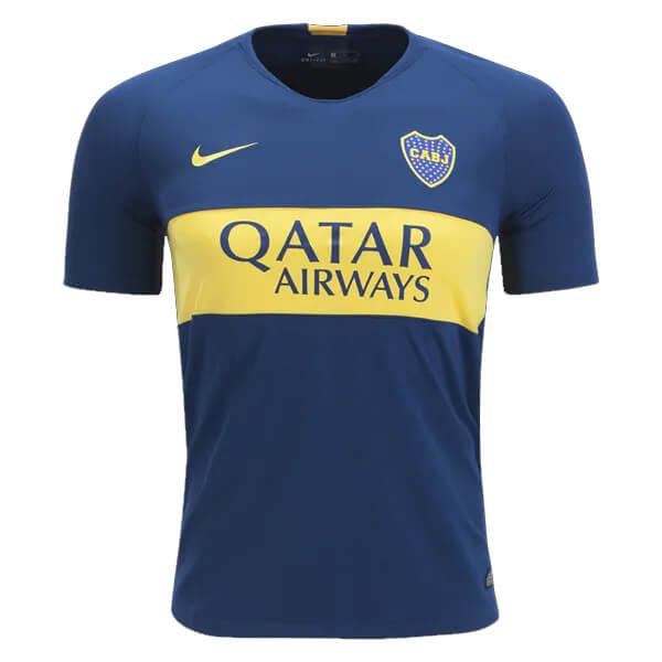 30993f2b5 Boca Juniors Home Soccer Jersey 18 19 - SoccerLord