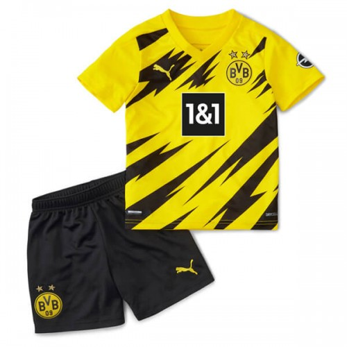 Borussia Dortmund Home Kids Football Kit 20 21