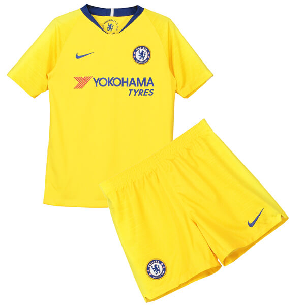 Chelsea Away Kids Football Kit 18 19 - SoccerLord 74bf988f3