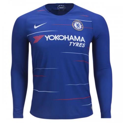 Chelsea Home Long Sleeve Football Shirt 18 19