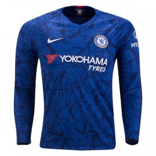 Chelsea Home Long Sleeve Football Shirt 19 20