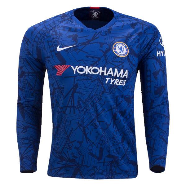 the latest 829c8 b51d2 Chelsea Home Long Sleeve Football Shirt 19/20