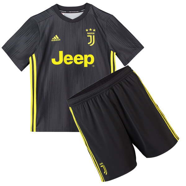 save off 52718 21459 Juventus 3rd Kids Football Kit 1819 - SoccerLord