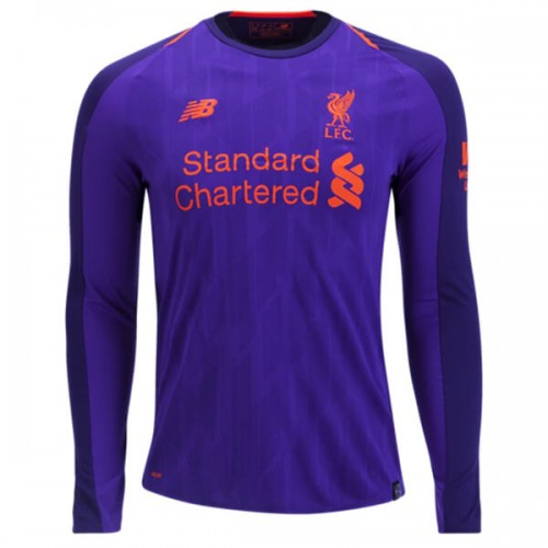 Liverpool Away Long Sleeve Football Shirt 18 19