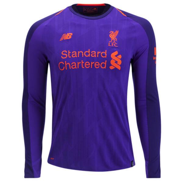 hot sale online 3e873 66d64 Liverpool Away Long Sleeve Football Shirt 18/19