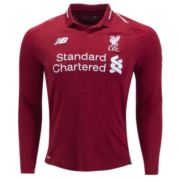 50409c8de4b Liverpool Home Long Sleeve Football Shirt 18 19 - SoccerLord