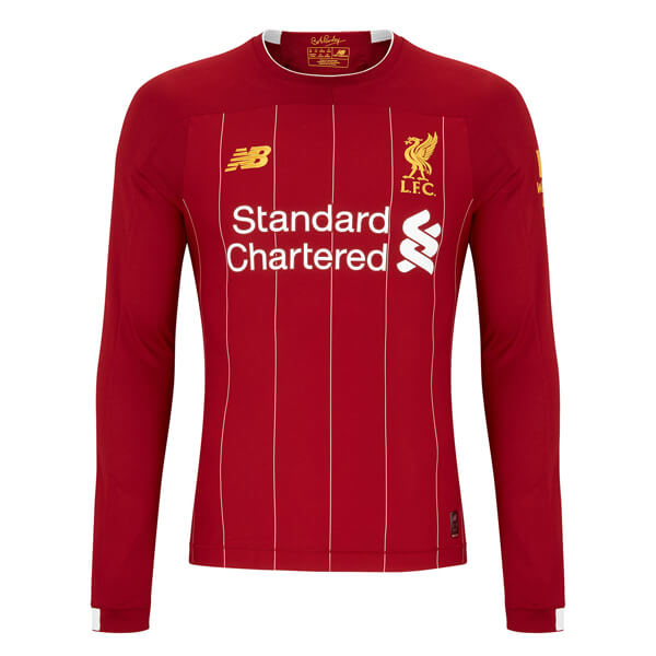 best authentic 8c154 d4971 Liverpool Home Long Sleeve Football Shirt 19/20