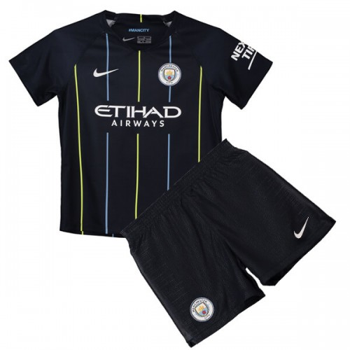 Manchester City Away Kids Football Kit 18 19