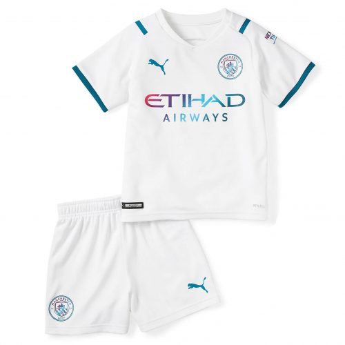 Manchester City Away Kids Football Kit 21 22