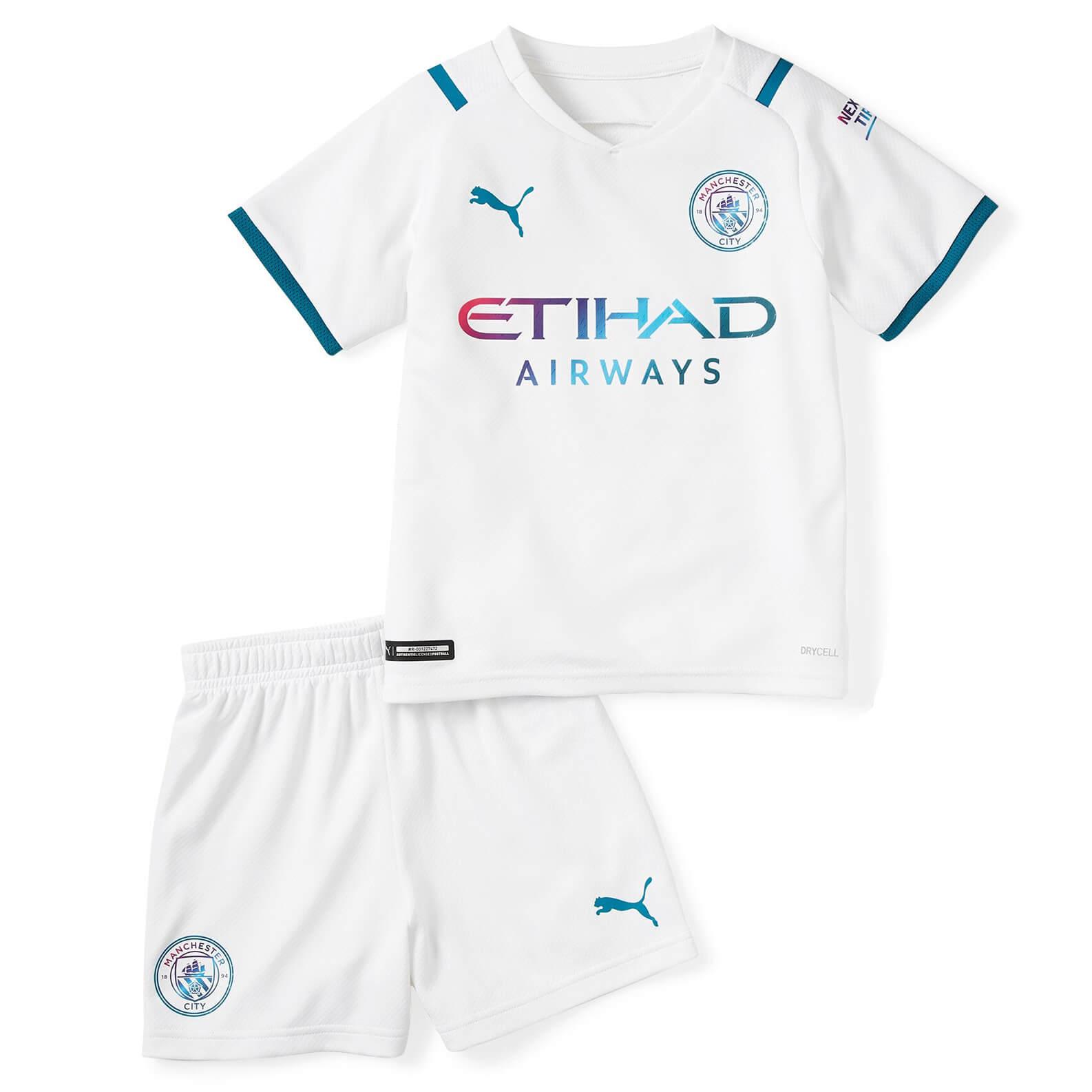 Manchester City Away Kids Football Kit 21 22 Soccerlord