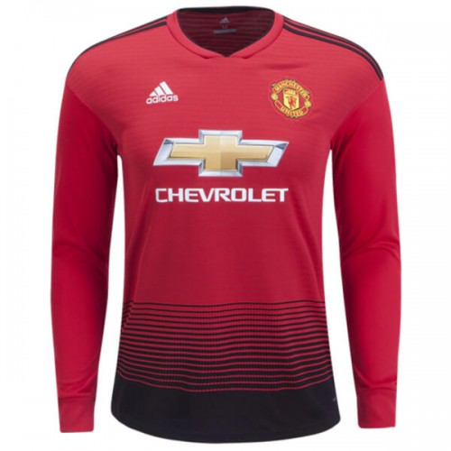 Manchester United Home Long Sleeve Football Shirt 18 19