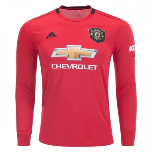 Manchester United Home Long Sleeve Football Shirt 19 20
